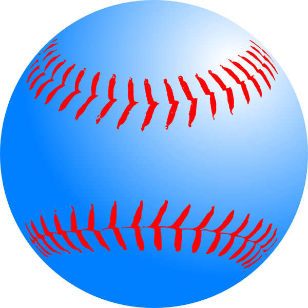 Baseball clipart large vector free library Blue Baseball Clip Art at Clker.com - vector clip art online ... vector free library