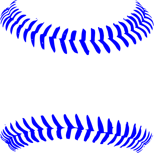 Baseball with bow clipart clip black and white download Blue Stitch Baseball Clip Art at Clker.com - vector clip art online ... clip black and white download