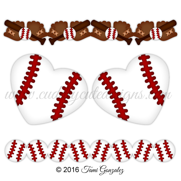 Free baseball clipart borders vector download Baseball Borders vector download