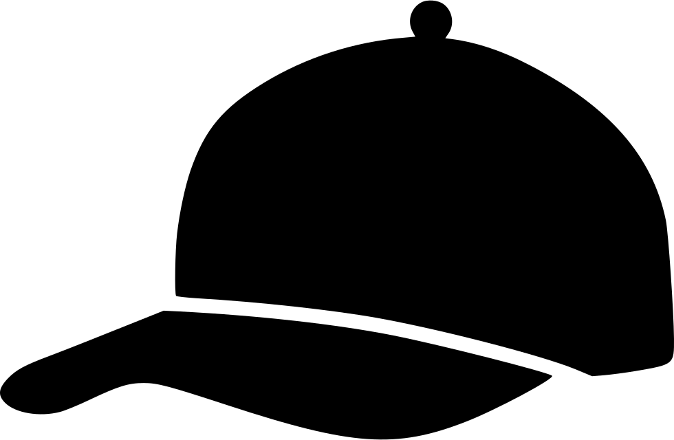 Baseball cap black and white clipart vector free stock Baseball cap Silhouette Clip art - baseball cap 980*640 transprent ... vector free stock