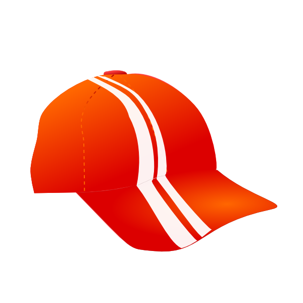 Baseball cap clipart free banner royalty free library Cap With Racing Stripes Clip Art at Clker.com - vector clip art ... banner royalty free library