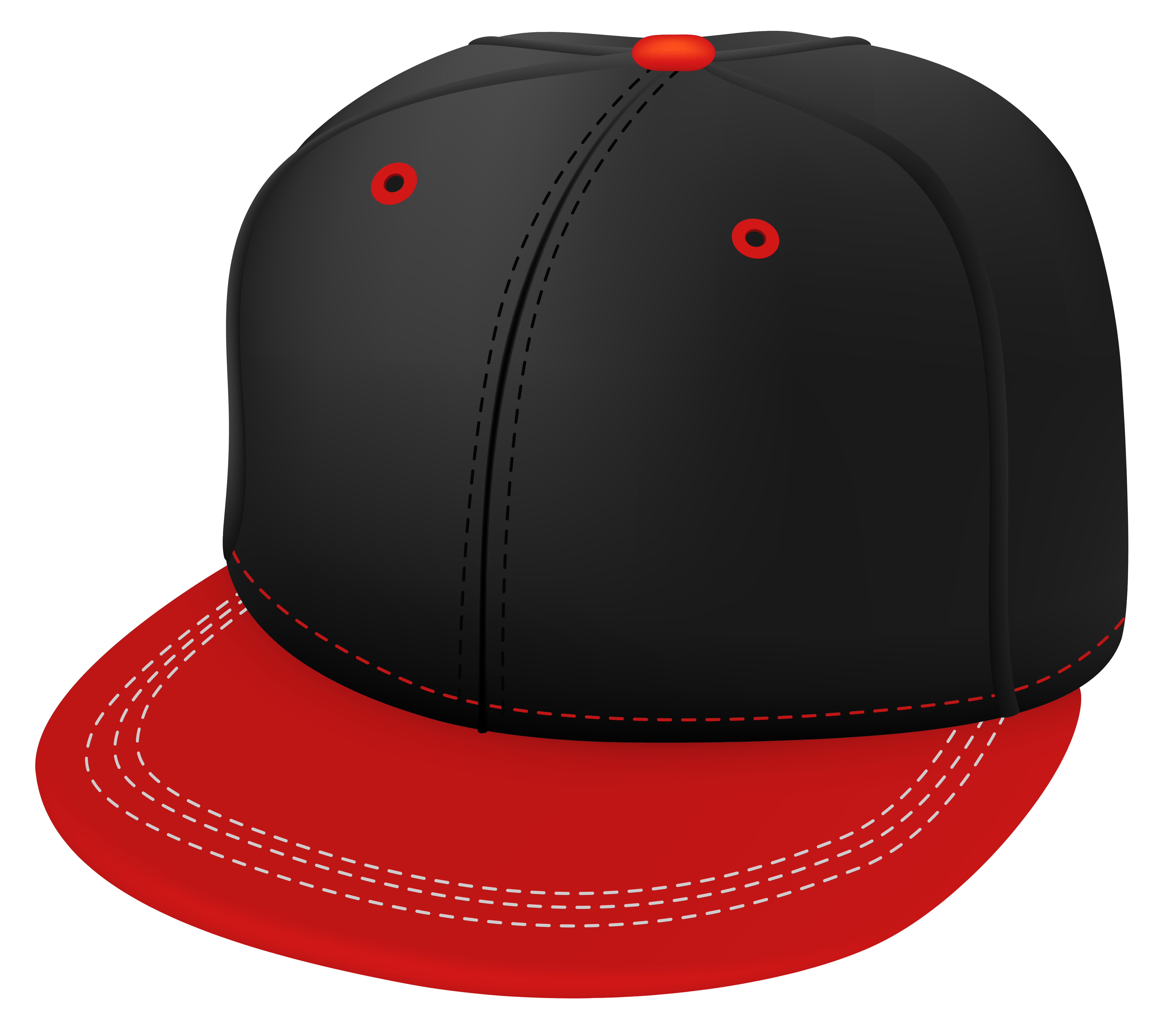 Baseball cap clipart black clipart black and white stock Red and Black Cap PNG Clipart - Best WEB Clipart clipart black and white stock
