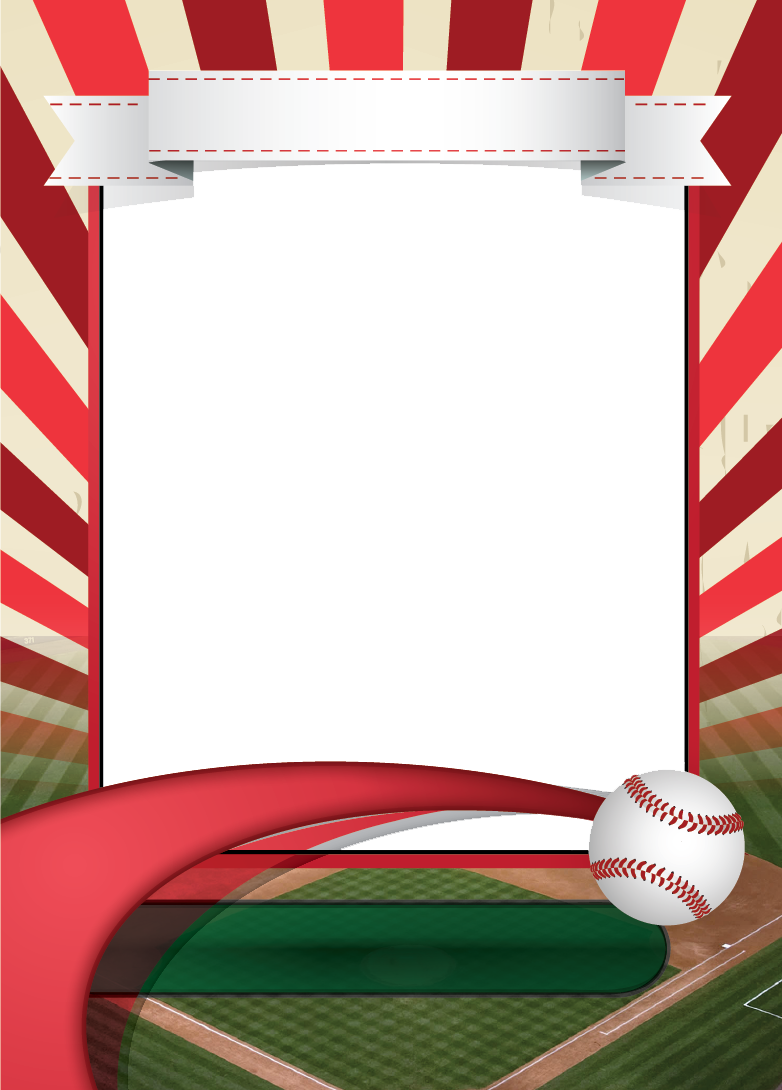 Baseball card border clipart clipart download Baseball Card Template mockup | Andrea's Illustrations | Pinterest ... clipart download