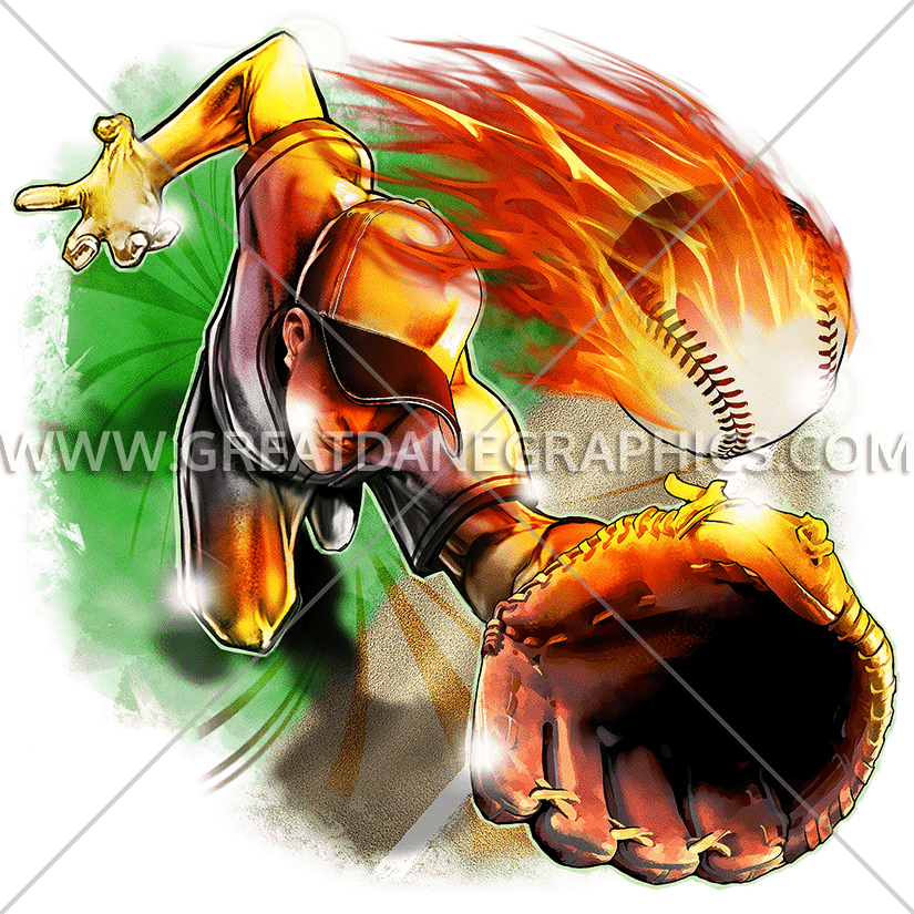 Baseball clipart catch vector transparent Baseball Diving Catch | Production Ready Artwork for T-Shirt Printing vector transparent