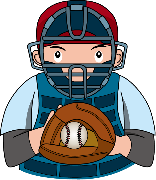 Baseball referee clipart. Player catcher panda free