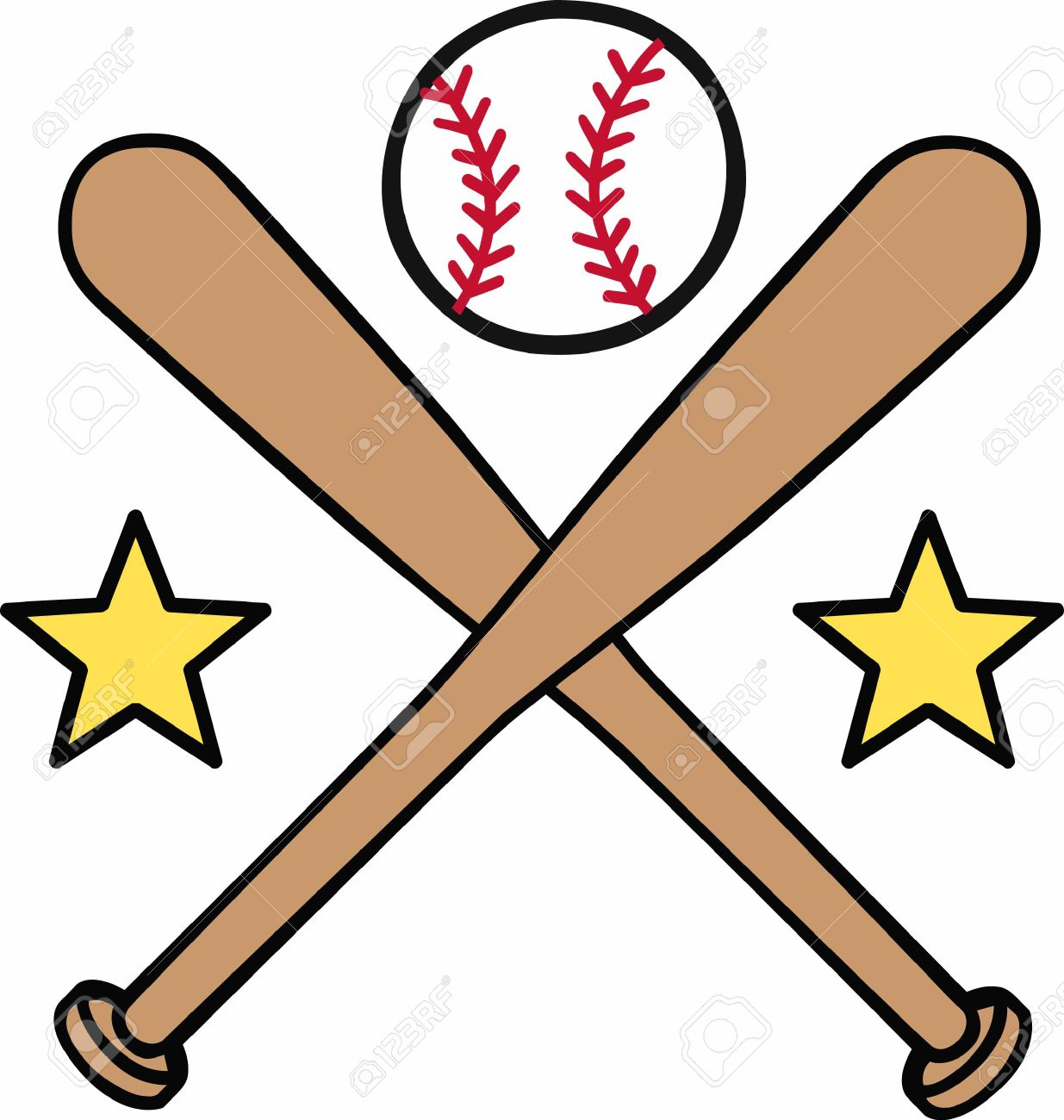 Baseball chain banner clipart free svg freeuse download Baseball Bat Crossed   Free download best Baseball Bat Crossed on ... svg freeuse download