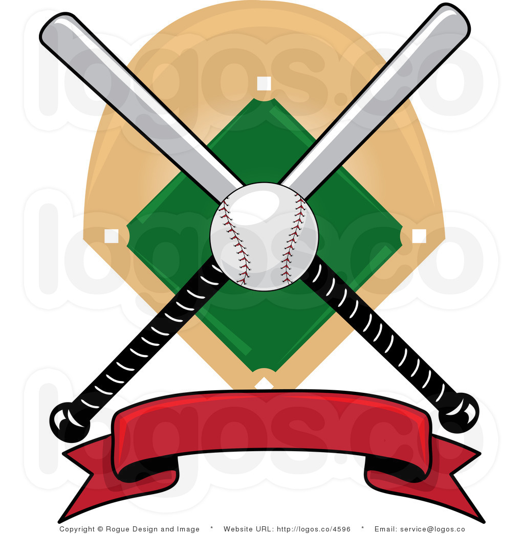 Baseball chain banner clipart free vector freeuse library Baseball Bat Crossed | Free download best Baseball Bat Crossed on ... vector freeuse library
