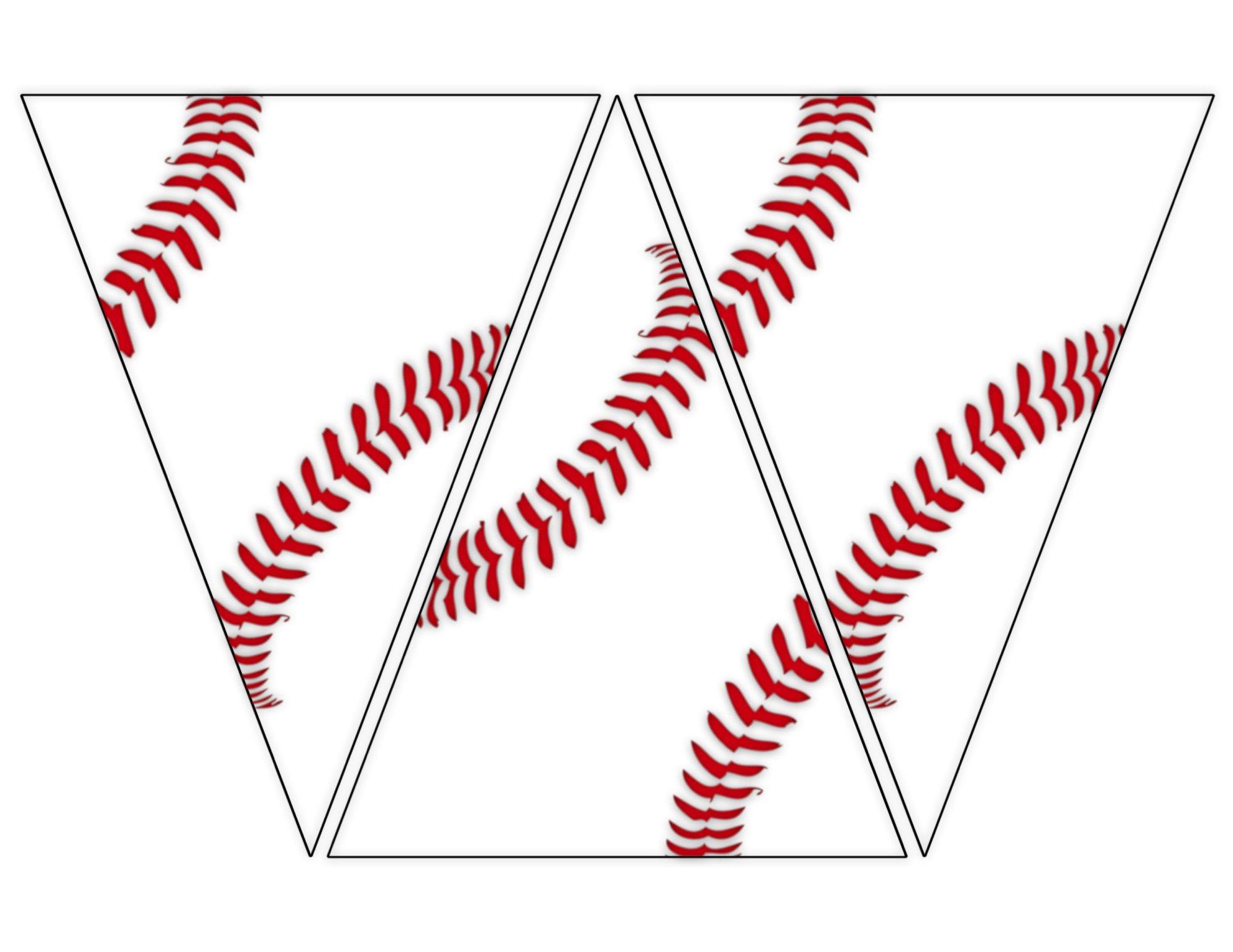 Baseball chain banner clipart free image Free Printable Baseball Banner {baseball party decorations   Party ... image