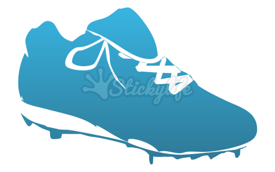 Baseball cleats clipart vector royalty free library Cleat Decals - Custom Cleat Shaped Vinyl Stickers vector royalty free library