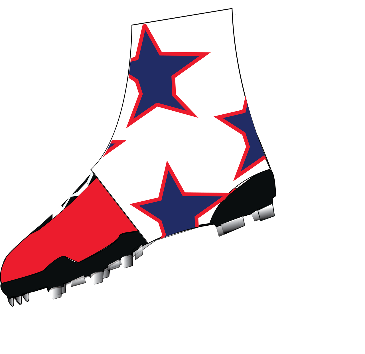 Baseball cleats clipart clip royalty free stock White, Navy Blue, and Red