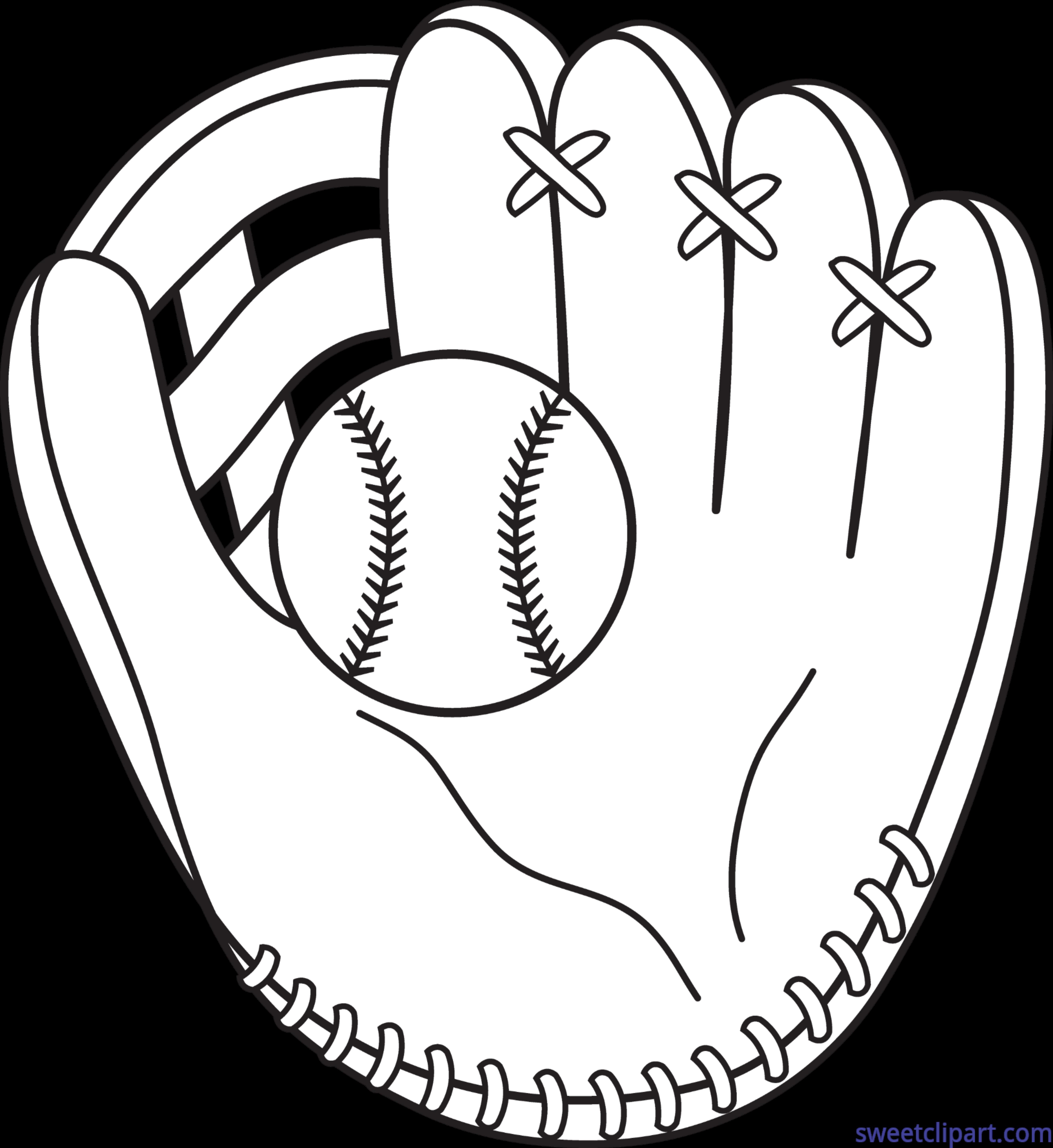 Clipart of a baseball image transparent download Baseball Mitt Lineart Clip Art - Sweet Clip Art image transparent download
