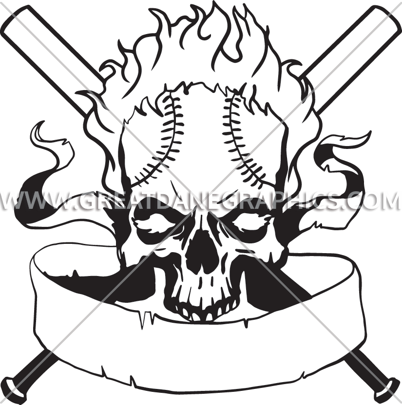Free black and white baseball clipart png black and white Baseball Clipart skull - Free Clipart on Dumielauxepices.net png black and white