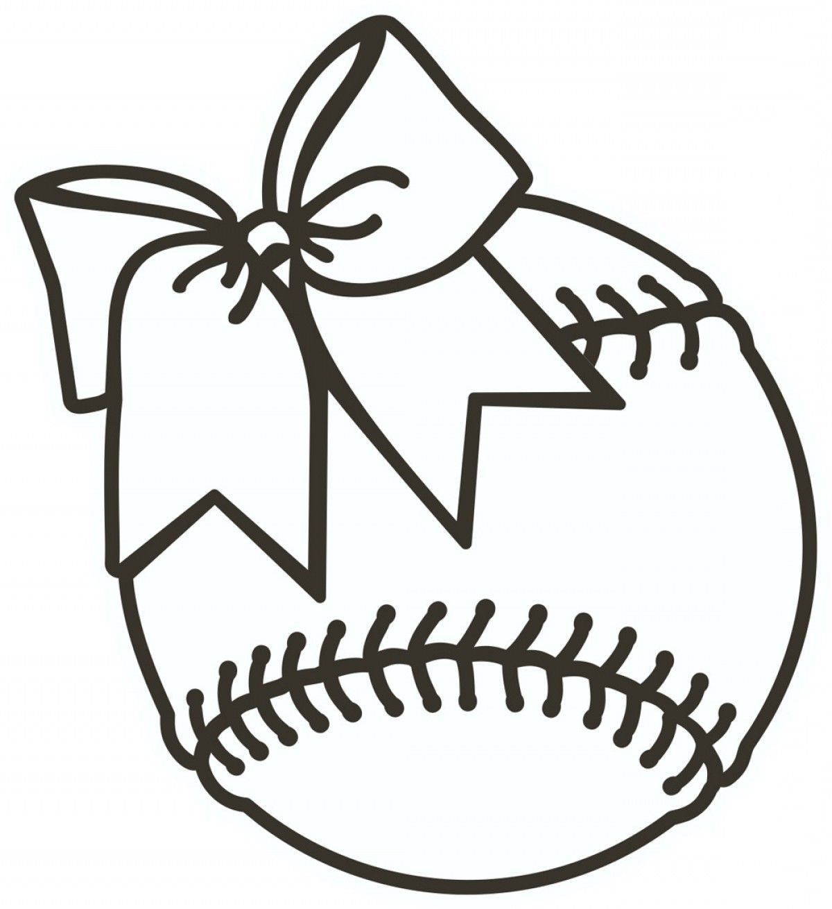 Baseball clipart black and white transdfer express image download Softball Clipart Black And White ... | Vinyl Images | Softball ... image download