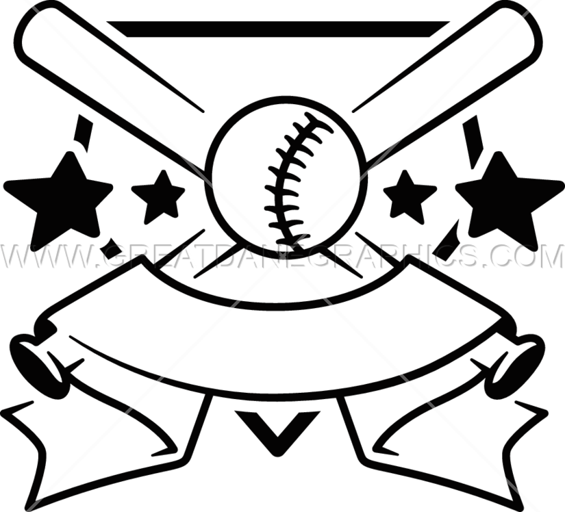 Baseball clipart color graphic freeuse Baseball Crest | Production Ready Artwork for T-Shirt Printing graphic freeuse