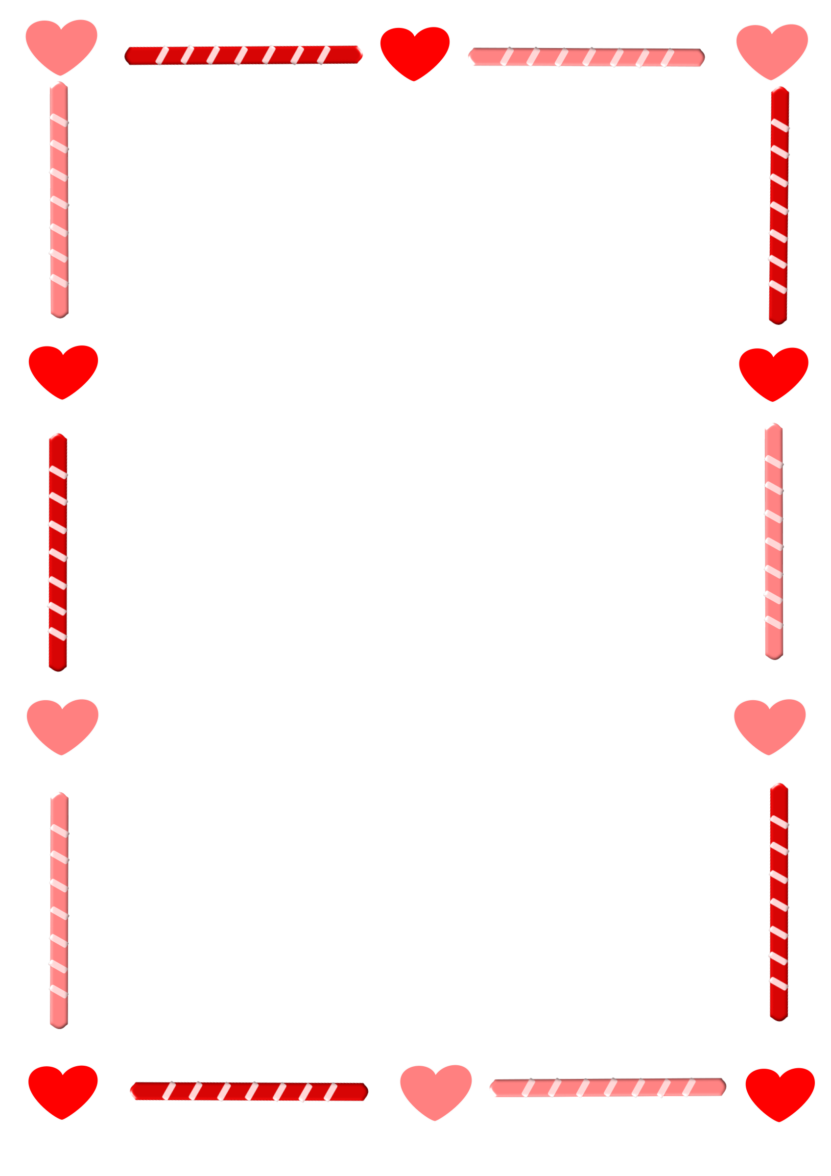 Candy cane heart clipart free clipart freeuse stock Pink Clipart borders - Free Clipart on Dumielauxepices.net clipart freeuse stock