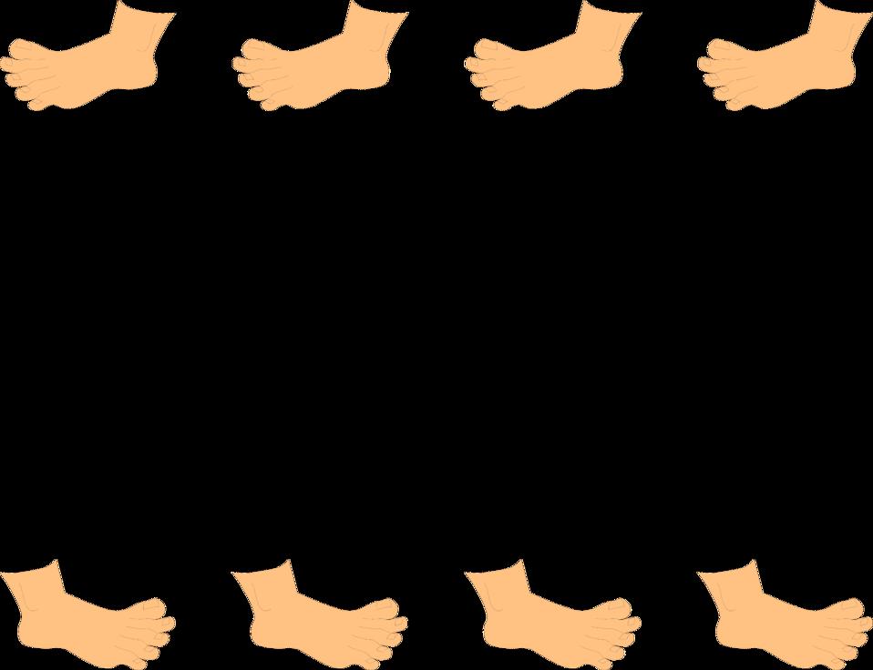 Baseball clipart border image black and white Feet | Free Stock Photo | Illustration of a blank frame border of ... image black and white