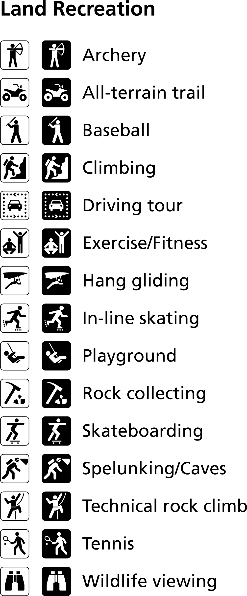 Baseball clipart font graphic freeuse Clipart - Land recreation symbols graphic freeuse