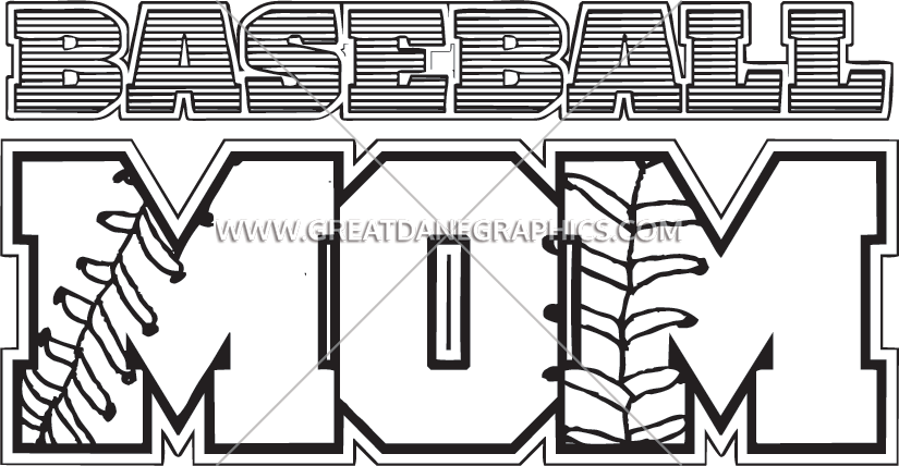 Baseball clipart font banner transparent Baseball Mom | Production Ready Artwork for T-Shirt Printing banner transparent