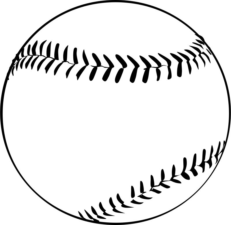 Baseball stitching clipart. By gerald g ball