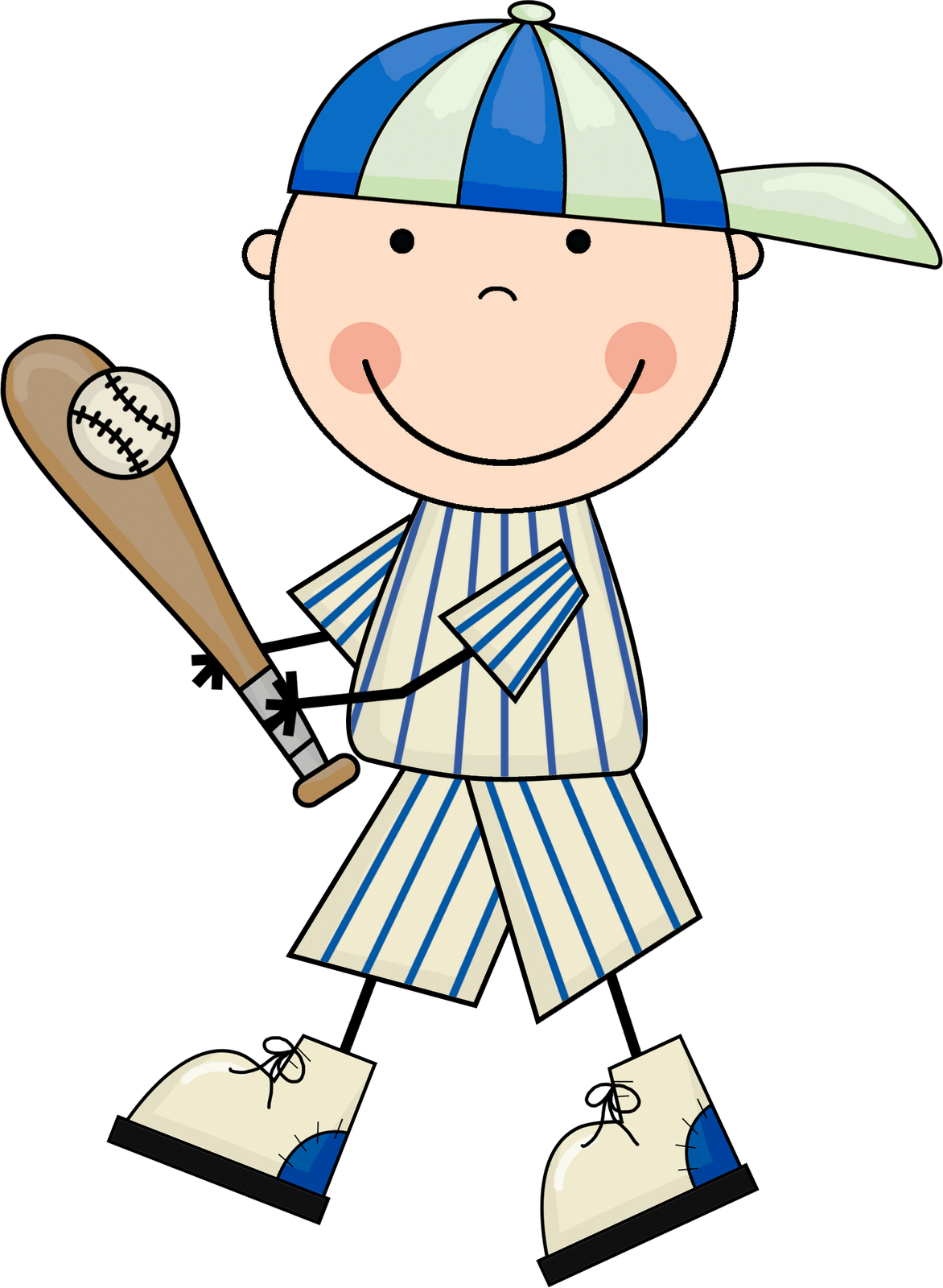 collection of kid. Cute baseball clipart