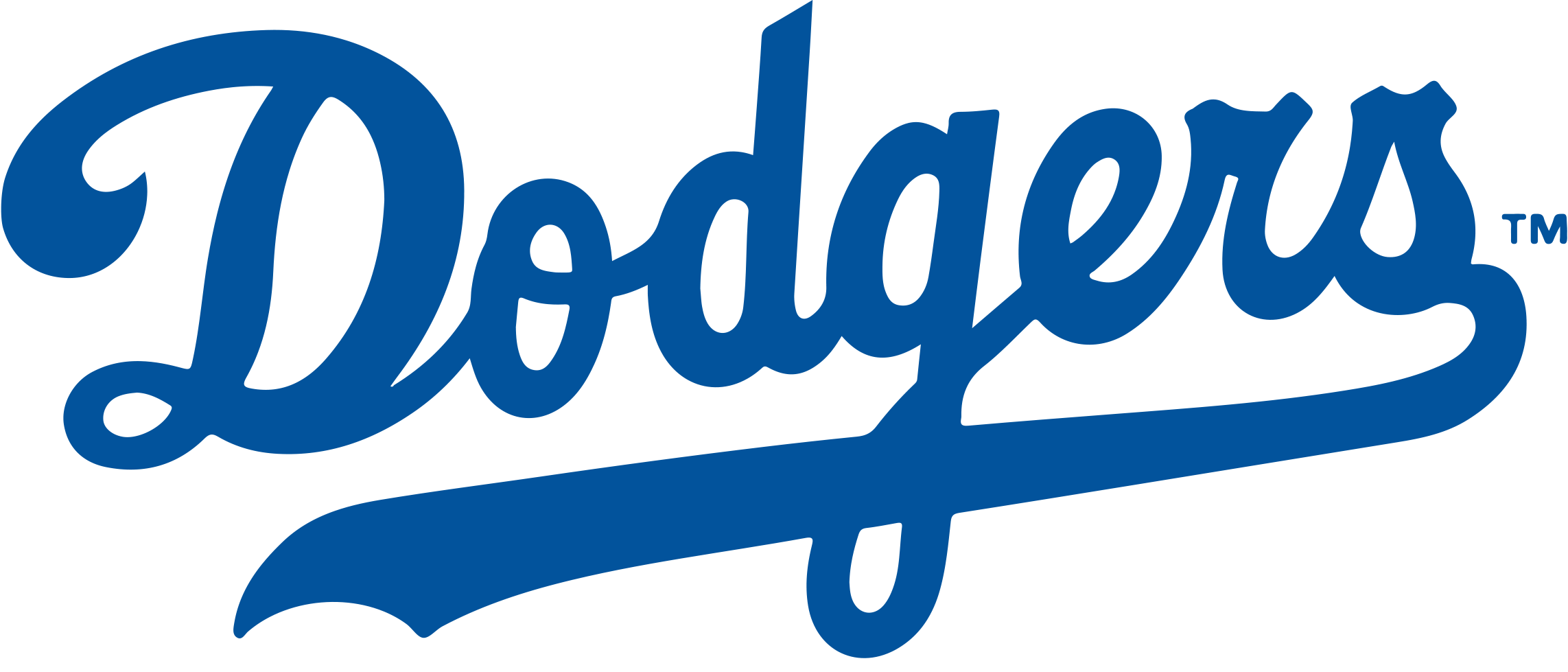 Baseball clipart free la dodgers picture black and white library Brooklyn Los Angeles Dodgers Chicago Cubs MLB Logo - new 2285*979 ... picture black and white library