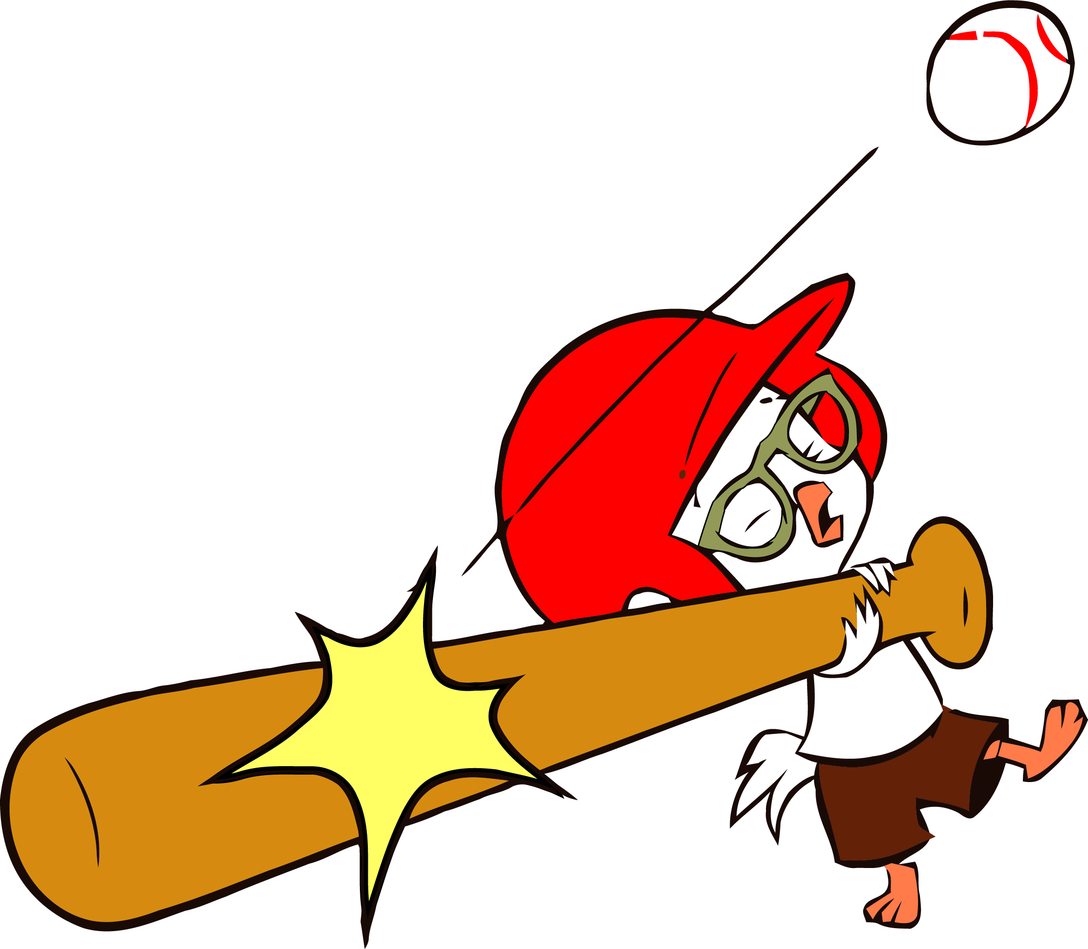 Playing baseball clipart picture free download Chicken Little Baseball Clipart Png | Clipartly.com picture free download
