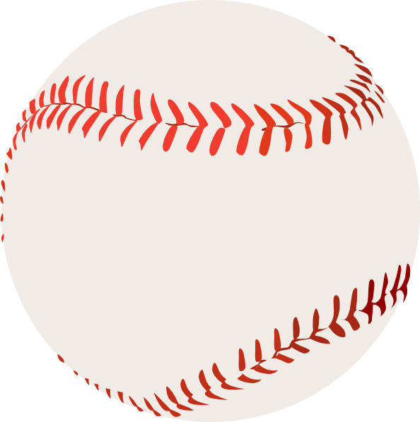 Big redstitching clip art. Baseball stitching clipart