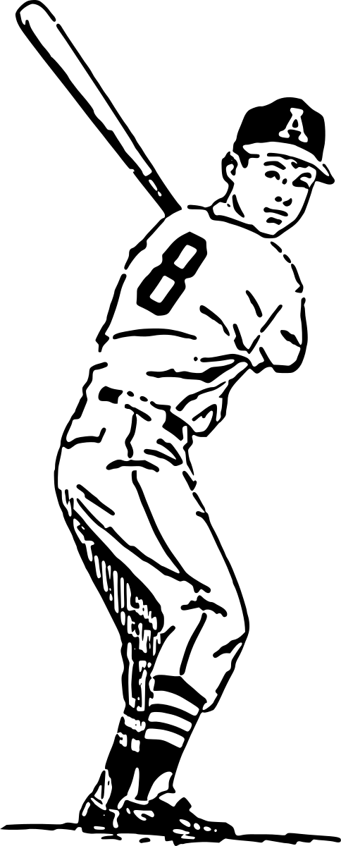 Baseball clipart logo png library stock Baseball Player Figure clip art - vector clip art online, royalty ... png library stock