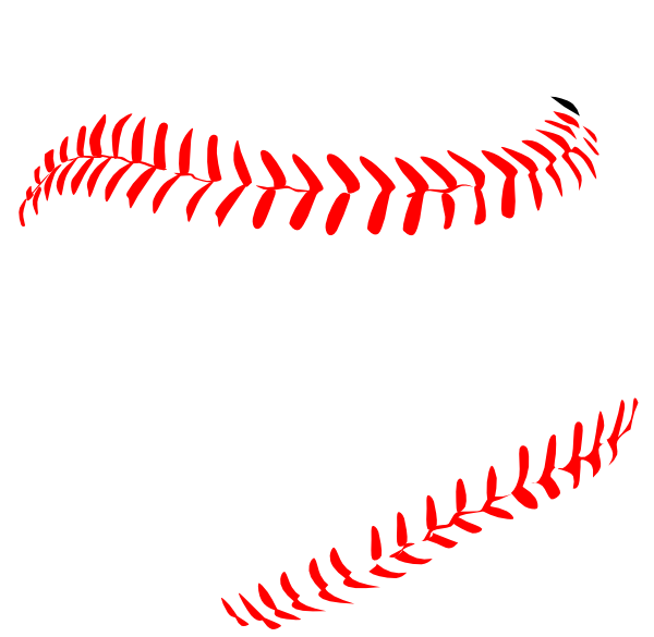 Red laces clip art. Baseball threads clipart vector