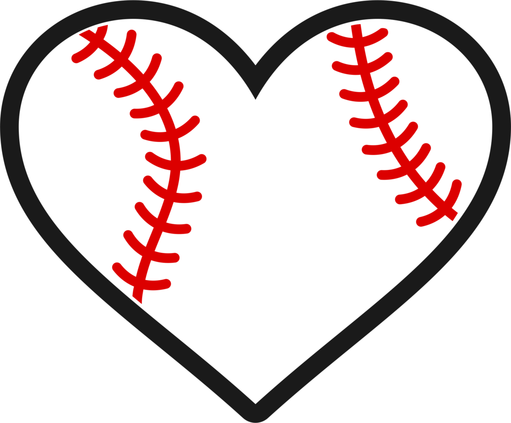 Baseball heart stitching clipart jpg transparent library Baseball/Softball Heart Decal – Wicked Whiskerz jpg transparent library