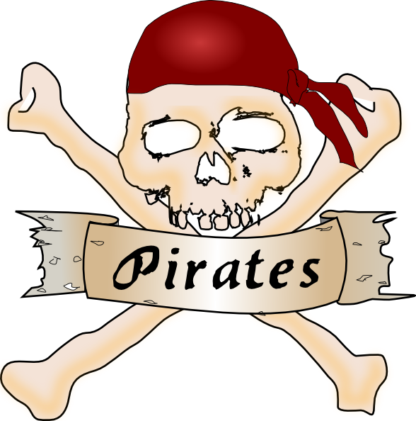 Baseball crossbones clipart picture transparent Pirate Skull Clip Art at Clker.com - vector clip art online, royalty ... picture transparent