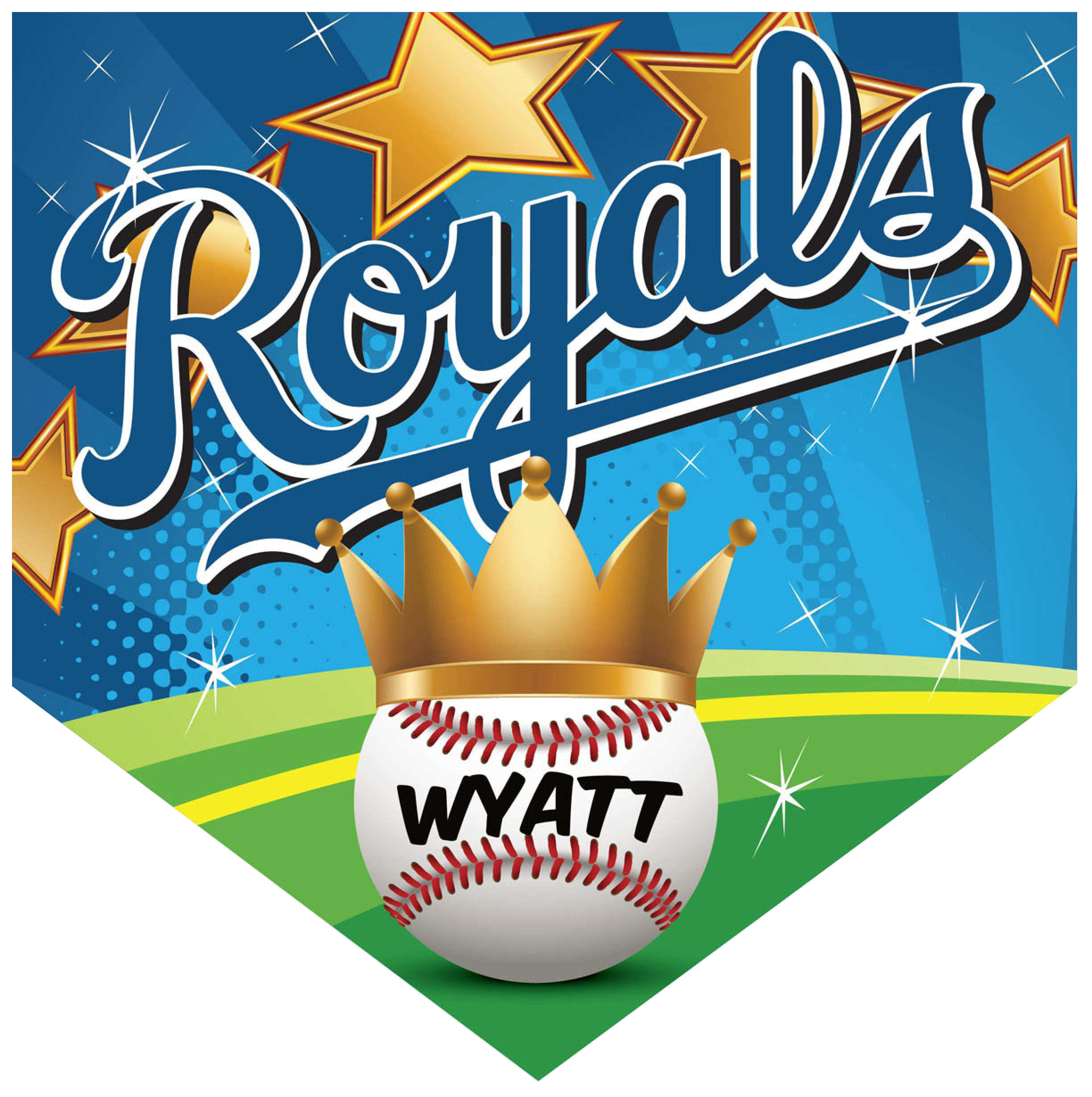 Baseball crowd clipart clipart library stock Royals Home Plate Individual Team Pennant - Custom Baseball ... clipart library stock