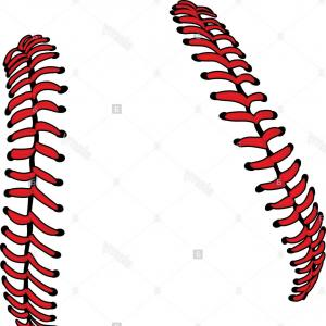 Baseball curved laces clipart picture library library Stock Photo Baseball Laces Or Softball Laces Vector Image | SOIDERGI picture library library