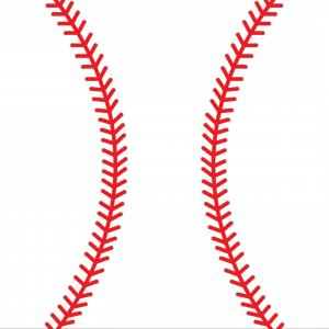 Baseball curved laces clipart image free stock Lace From A Baseball On A White Background Vector Illustration ... image free stock