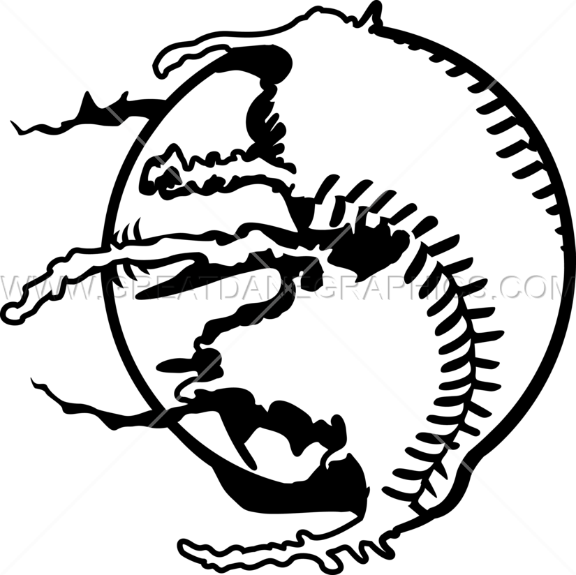Baseball cut in half clipart picture royalty free library Paintball Baseball | Production Ready Artwork for T-Shirt Printing picture royalty free library