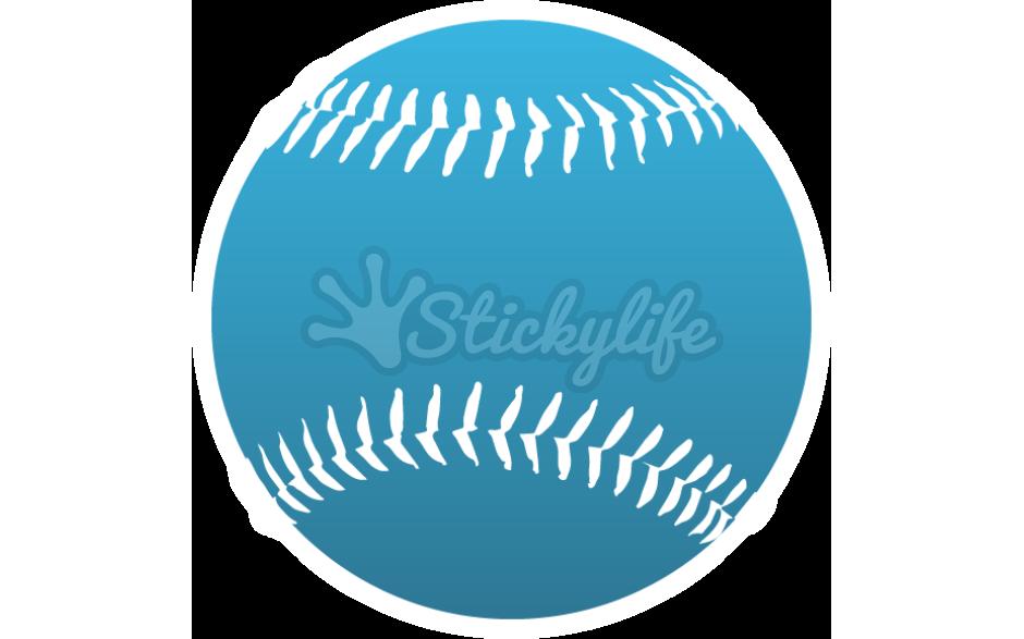 Baseball decals clipart jpg stock Baseball Decal - Custom Baseball Shaped Window Sticker jpg stock