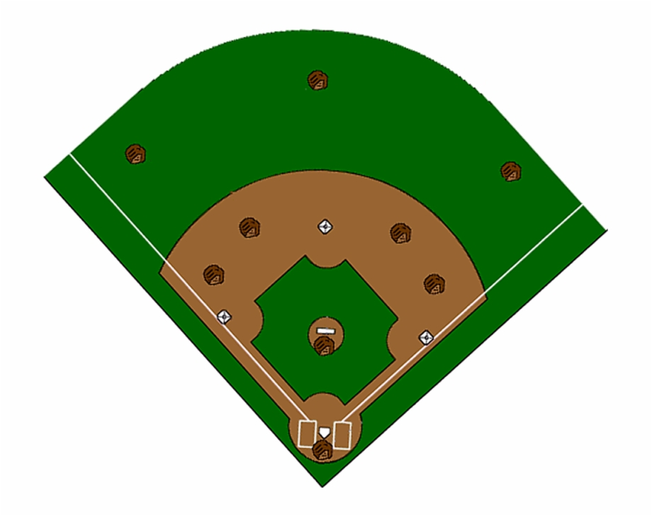 Baseball diamo with strips clipart image download Softball Diamond Clipart - Clipart High Resolution Baseball Field ... image download