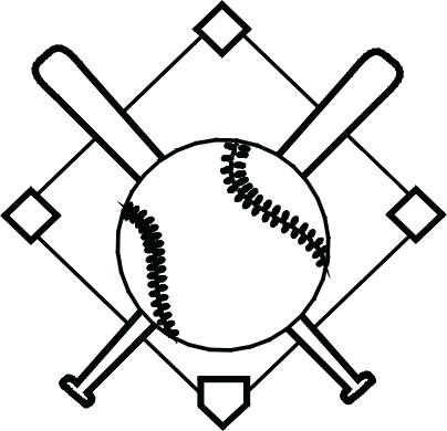 Baseball diamond black white clipart graphic library download Black And White Baseball Diamond Clipart | Free download best Black ... graphic library download
