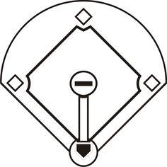 Baseball diamond black white clipart graphic royalty free stock Baseball diamond clipart black and white 3 » Clipart Station graphic royalty free stock