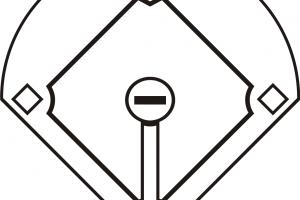 Baseball diamond black white clipart banner freeuse stock Baseball diamond clipart black and white 2 » Clipart Station banner freeuse stock