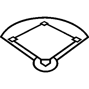 Baseball diamond black white clipart picture black and white library Baseball Diamond Baseball Field Clipart Free Images 5 – Clipartbarn ... picture black and white library