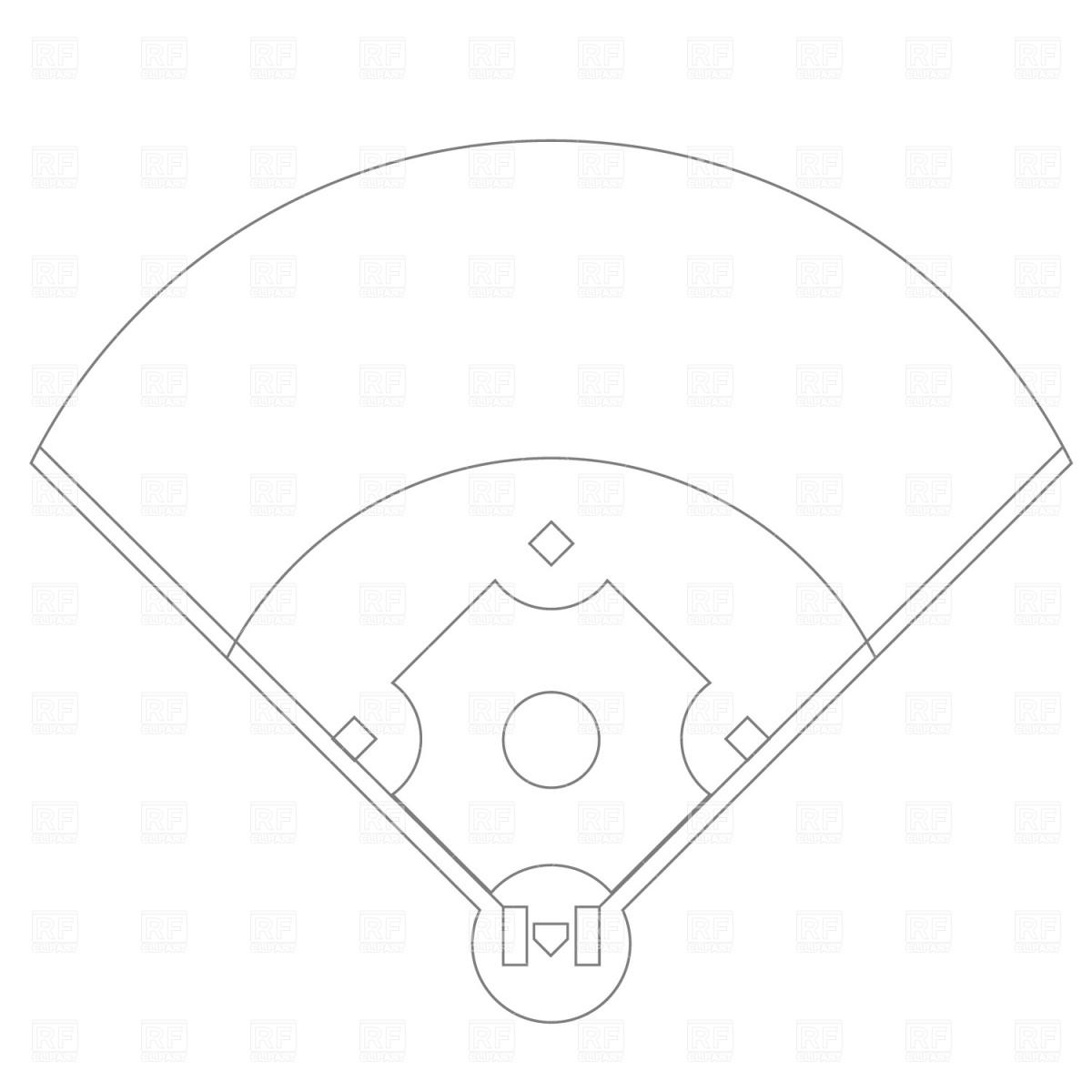 Baseball diamond black white clipart jpg black and white Black and white baseball field free clipart - WikiClipArt jpg black and white