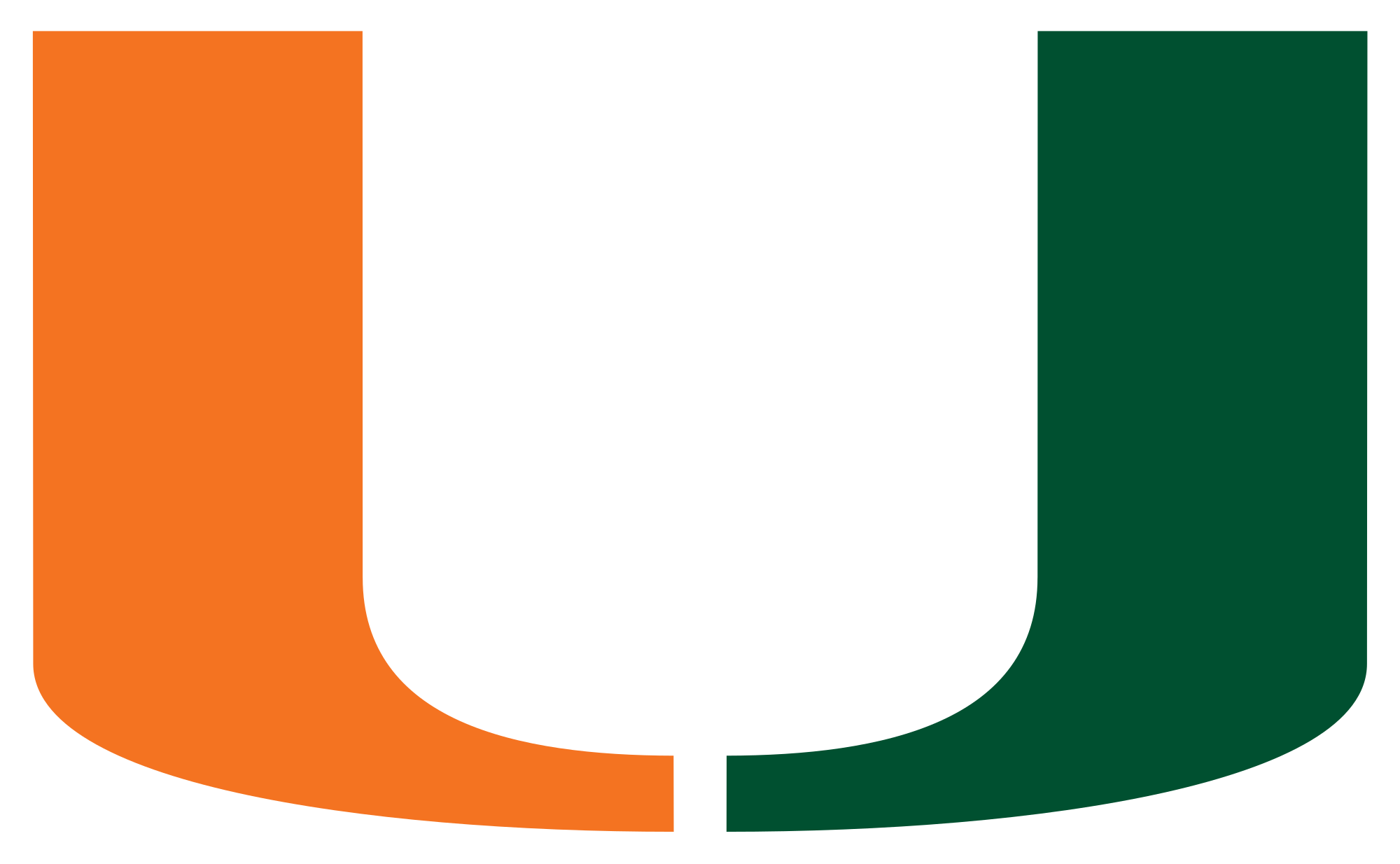 Basketball bounce clipart vector royalty free library File:Miami Hurricanes logo.svg - Wikimedia Commons vector royalty free library