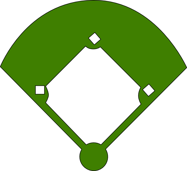 Clipart of baseball diamond clipart free download Baseball Field Layout Positions Clipart clipart free download