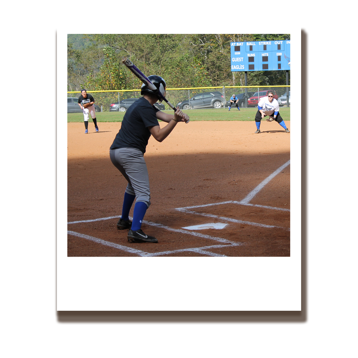 Baseball diamond clipart with positions picture free Athletics | Alice Lloyd College picture free