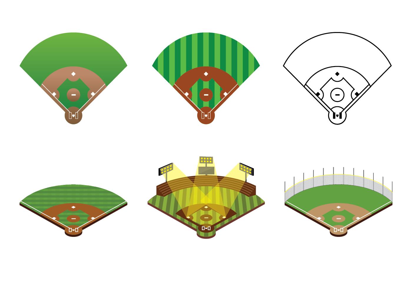 Baseball diamond vector clipart png vector black and white download Baseball Field Free Vector Art - (971 Free Downloads) vector black and white download