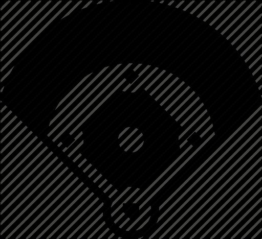 Baseball diamond vector clipart png clip art black and white stock Baseball Field Icon #195459 - Free Icons Library clip art black and white stock