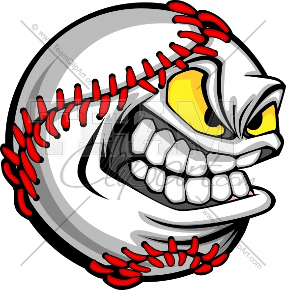 Baseball drawings clipart png transparent library Cartoon Baseball Face Clipart Image. Easy to Edit Vector Format. png transparent library