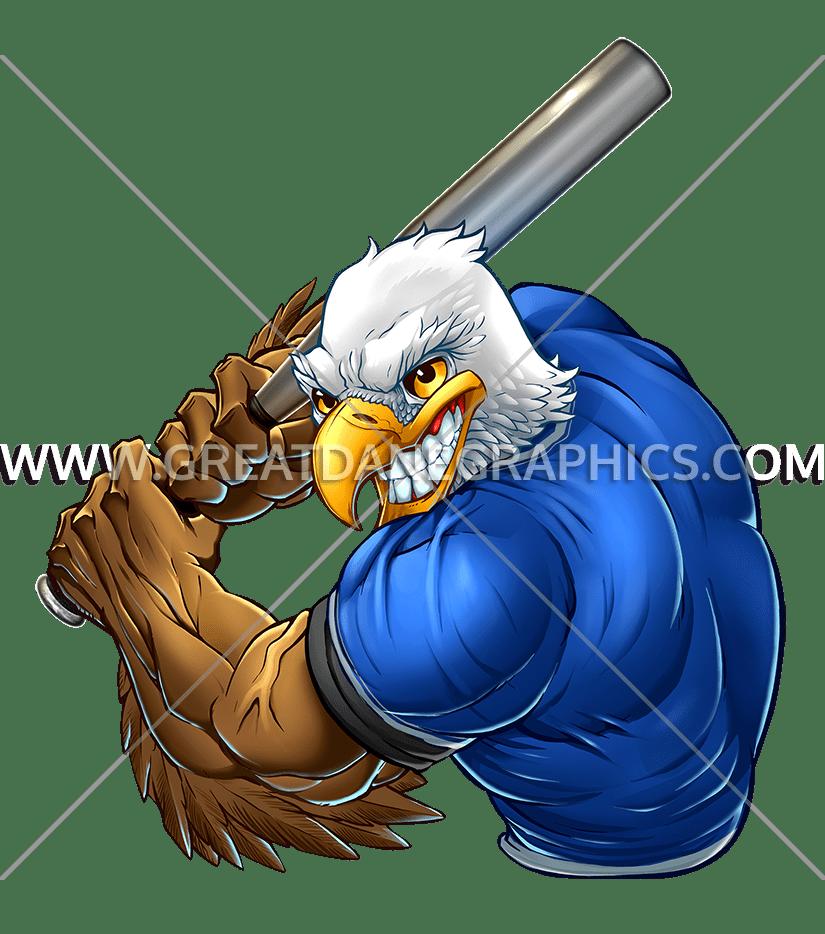 Baseball eagle mascot clipart clip download Eagle Baseball Player   Production Ready Artwork for T-Shirt Printing clip download