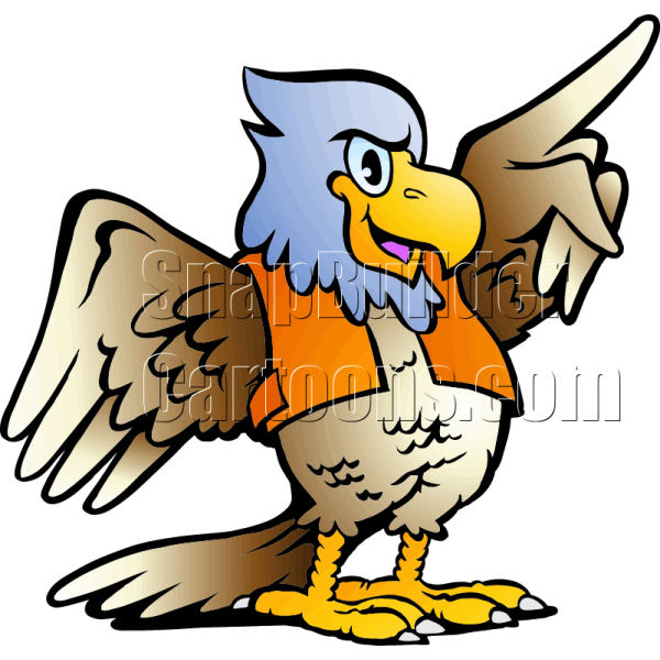 Baseball eagle mascot clipart picture freeuse Eagle Pointing Right picture freeuse